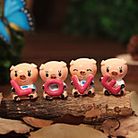 Cute Pig Love Jewelry Resin Dolls Korean Couple Gifts