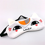 Natsume Yuujinchou White Cat Flannel Sleeping Eye Mask