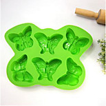 6 With Butterfly Silicone Bakeware Diy Popsicle Mold Lattice Box Cream Mold D-47 5Pcs