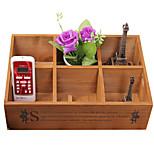 Special Offer Zakka Desktop Storage Box Storage Box, Wooden Box, Wooden Box, Wooden Retro Garden Socks Remote Control
