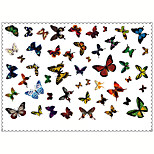 5PCS Fashion Butterfly Body Art Waterproof Temporary Tattoos Sexy Tattoo Stickers (Size: 3.74'' by 5.71'')