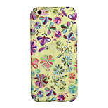 de volta Resistente ao Pó / Estampa Flor PC Macio Pattern Flower Case Capa Para Apple iPhone 6s Plus/6 Plus / iPhone 6s/6 / iPhone SE/5s/5