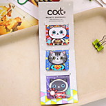 Q026 Korea Stationery Cute Kitty Cute Mini Bookmark Magnetic Pattern Book Holder 3 Into