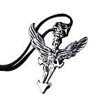 The Vintage Mens Titanium Necklace Skull Cross wings