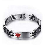 Men's Fashion Medical Pattern Titanium Steel Bracelet