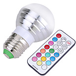 5W E26/E27 Bombillas LED de Globo A50 4 SMD 300-450 lm Blanco Fresco / RGB Regulable / Control Remoto / DecorativaAC 85-265 / AC 100-240