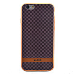 Plaid Purses Pattern Plating TPU Soft Case Phone Case for iPhone 6/6S