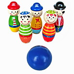 Children Toys Wooden Bowling Ball Skittle Funny Shape For Kids Game