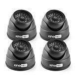 KingNEO KD102-41 IR Dummy Camera Dome Simulated Surveillance Security Camera 4pcs Black