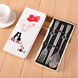 Wedding Wedding Gifts Stainless Steel Fork Spoon Chopsticks Suit Wedding Favor Souvenir - Pak Cartridge