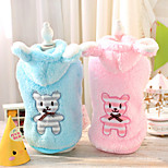 Dog Hoodie Blue / Pink Winter Cartoon Casual/Daily, Dog Clothes / Dog Clothing