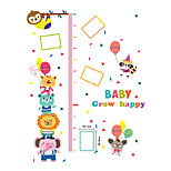 Wall Stickers Wall Decals Style Animal Carnival Measure Your Height PVC Wall Stickers
