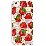 Strawberry Pattern TPU Soft Ultra-thin Back Cover Case Cover For Apple iPhone  6 Plus / iPhone 6s/6 / iPhone 5s/5