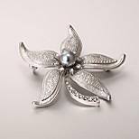 European and American fashion zircon Pearl Brooch Series 006