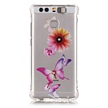 Butterfly Rhinestone Drop Resistance Calls Flashing TPU Soft Case Phone Case for Huawei P9/Huawei Honor 5X