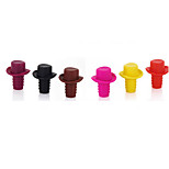 Top Hat Shaped Silicone Wine Stopper Champagne Wine Bottle Stopper Preserver(Random Color)