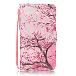 PU Leather Material 3D Painting Cherry Tree Pattern Phone Case for Huawei P9 Lite