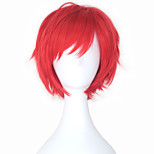 Cosplay Wigs Cosplay Cosplay Red Short Anime Cosplay Wigs 28 CM Heat Resistant Fiber Male / Female