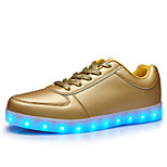 2016 New Men's LED Shoes Casual Fashion   Comfort / Round Toe / Outdoor Shoes Silver / Gold