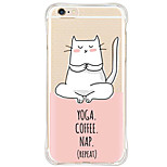 Waterproof/Transparent Cartoon Cat TPU&Silicone Soft Shockproof Case Cover For AppleiPhone 6s Plus/6 Plus/6s/6/SE/5s/5