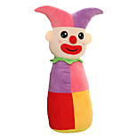 Cylindrical Circus Clown Plush Toy Doll Cute Cartoon Pillow Gift - Small Purple 50cm