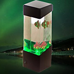 (Fish Black) Creative Mini USB Aquarium Small Fish Lamp Electronic LED Nightlight Desk Lamp