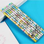 Children'S School Supplies Cartoon Pencil Rod 24 Associated With A Non-Toxic Basswood Pencil Eraser 24 / Pack