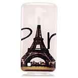 Eiffel Tower Pattern Pattern Relief Glow in the Dark TPU Phone Case for LG K10/K8/K7/K5