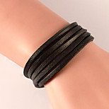 Braided Wax Cord Classic Fashion Leather Wrap Around Lengthen Bracelet Jewelry