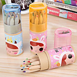 Cartoon Color Pencil Sharpener Ribbon Suit Korean Stationery 12