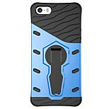 arrière résister Couleur unie PC Dur 360 degree rotation armor Phone Case Couverture de cas pour Apple iPhone SE/5s/5