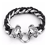 Punk And Rock Style Jewelry Men's 316L Stainless Steel Skull Heads Bracelets