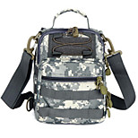 2 L Shoulder Bag Camping & Hiking Leisure Sports Multifunctional Black / Brown Canvas Other