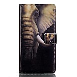 For Huawei Case / P9 / P9 Lite Card Holder / Wallet / with Stand / Flip Case Full Body Case Elephant Hard PU Leather HuaweiHuawei P9 /