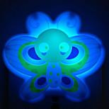 motyle inteligentny czujnik światła LED nocy jasnoniebieski