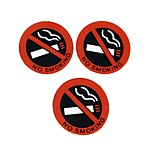 ZIQIAO 3 Pcs Auto Hot Car Styling No Smoking Logo Warning Sign Stickers Rubber Latex 3D Stickers