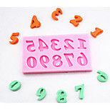 1 PCS Hot Fondant Chocolate Soap Mould 3D Silicone Digital Cake Molds Cake Decorating Kitchenware Tools For Kids