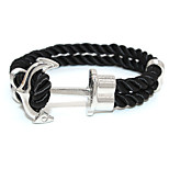 Punk Fashion Men's Bracelet Silver Plated Anchor Bracelet Alloy Bracelet Chain Bracelets / Wrap Bracelets Daily