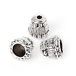 Beadia 10Pcs Antique Silver Alloy Beads 9x8mm Spacer Beads & Beads Cap