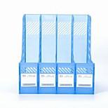 Office Supplies Transparent Plastic Document Holder Quadruple File Column Frame Four Columns File Data Management