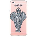 espalda Ultra-Fino / Traslúcido Elefante TPU Suave Ultra-thin Translucent Soft Back Cover Cubierta del caso para AppleiPhone 6s Plus/6