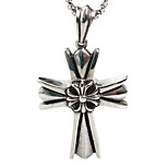 Individual Men Cross Pendant Necklace Titanium