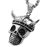 Pirate Horn Titanium Pendant Necklace