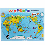 madera mapa del mundo