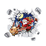 3D Wall Stickers Wall Decals Style Santa Claus PVC Wall Stickers