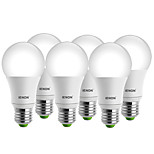 IENON® 6 pcs 7W E26/E27 LED Globe Bulbs A60(A19) 1 COB 560-630 lm Warm White / Cool White Decorative AC 100-240 V