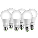7W E26/E27 Lâmpada Redonda LED A60(A19) 1 COB 560-630 lm Branco Quente / Branco Frio Decorativa AC 100-240 V 6 pçs