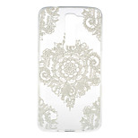 White Flower Corners Pattern TPU Soft Case Phone Case for LG Series Model