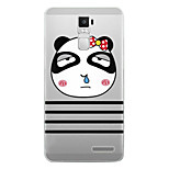 Cartoon Painting  TPU Soft for OPPO R7s Plus(panda)