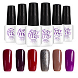 6PCS Sexymix Nail Polish Sets 7ml UV Gel Shining Color Varnish Soak off Long Lasting NO.5